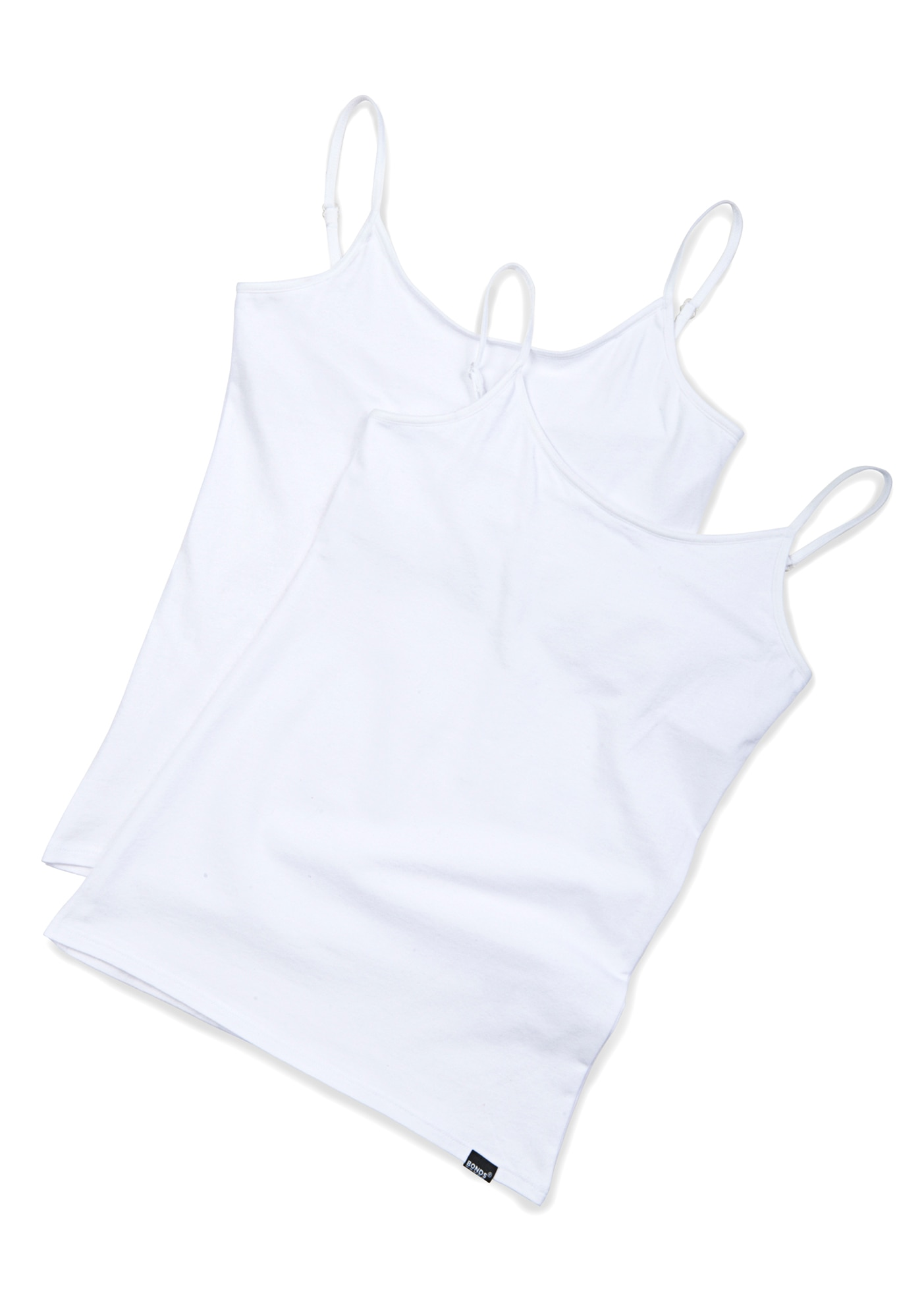Bonds Hipster Hidden Crop Singlet 6pk - White / 8