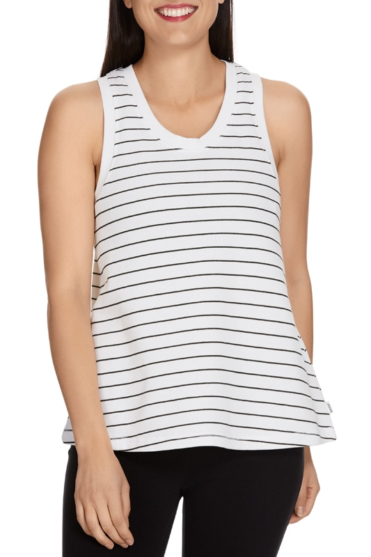 Bonds Stripe Tank - White & Black / XL