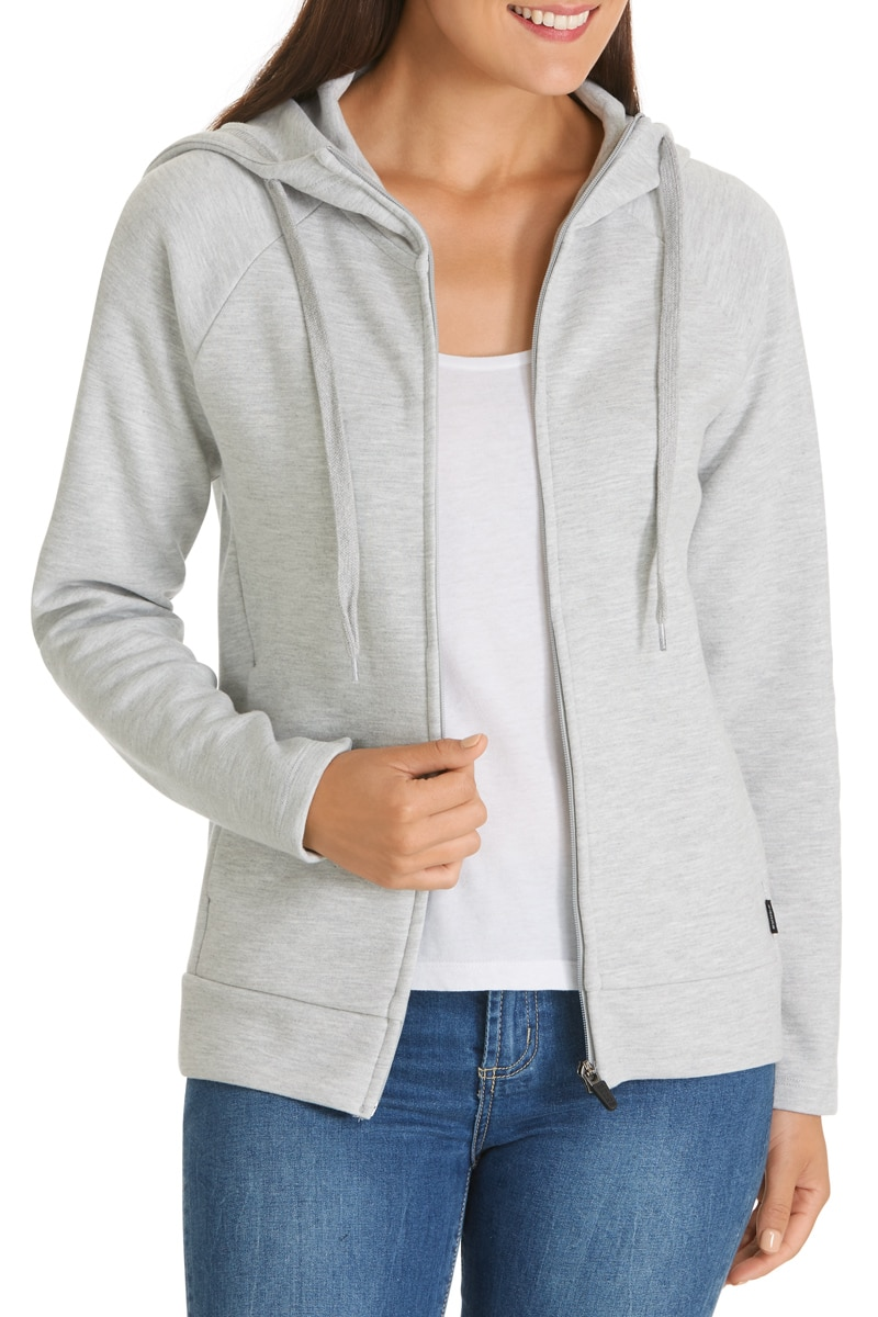Bonds Funnel Neck Hoodie - New Grey Marle / XS