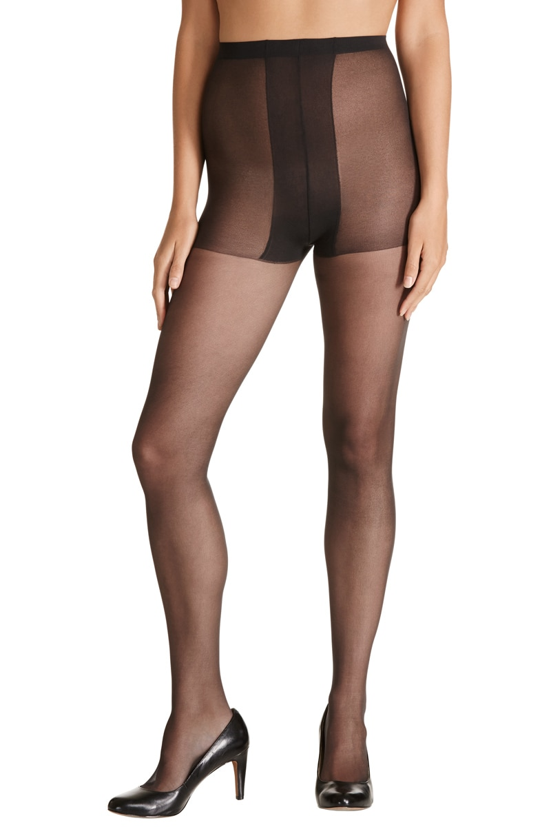 Kayser Plus Sheer Nylon Pantyhose 5Pk - Nearly Black / 22-24