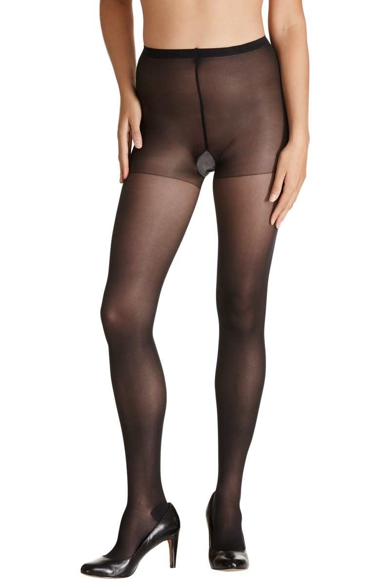 Sheer Relief Sheer Pantyhose 5Pk - Black / Extra Tall