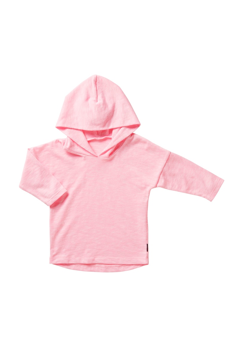 Bonds Long Sleeve Hoodie Tee - Strawberry Glaze / 000 (0-3 Months)