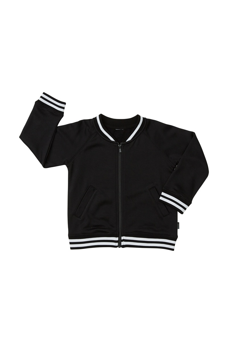 Bonds Kids Retro Ribs Bomber Jacket - Black / 4