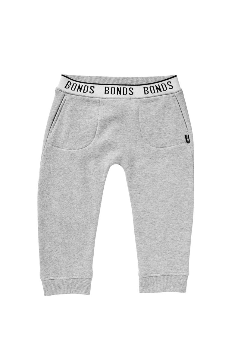 Bonds Logo Signature Trackie - New Grey Marle / 0 (6-12 Months)
