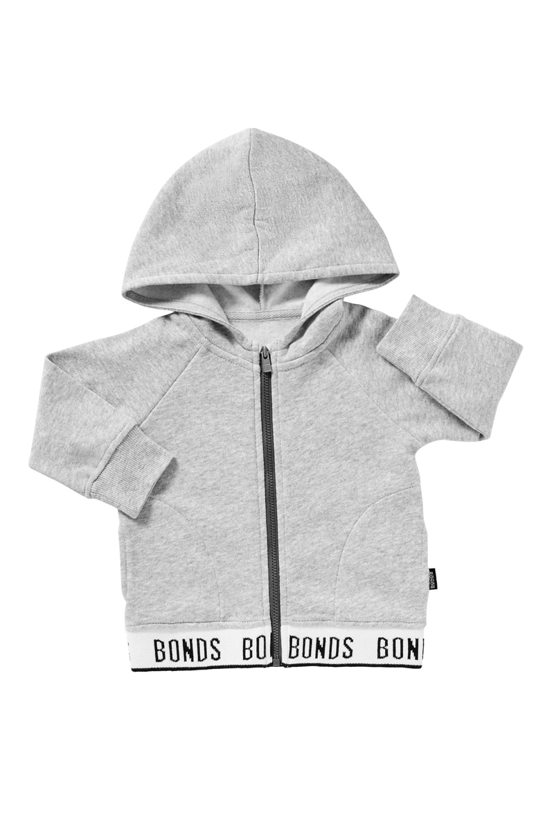 Bonds Logo Signature Zip Hoodie - New Grey Marle / 1 (12-18 Months)