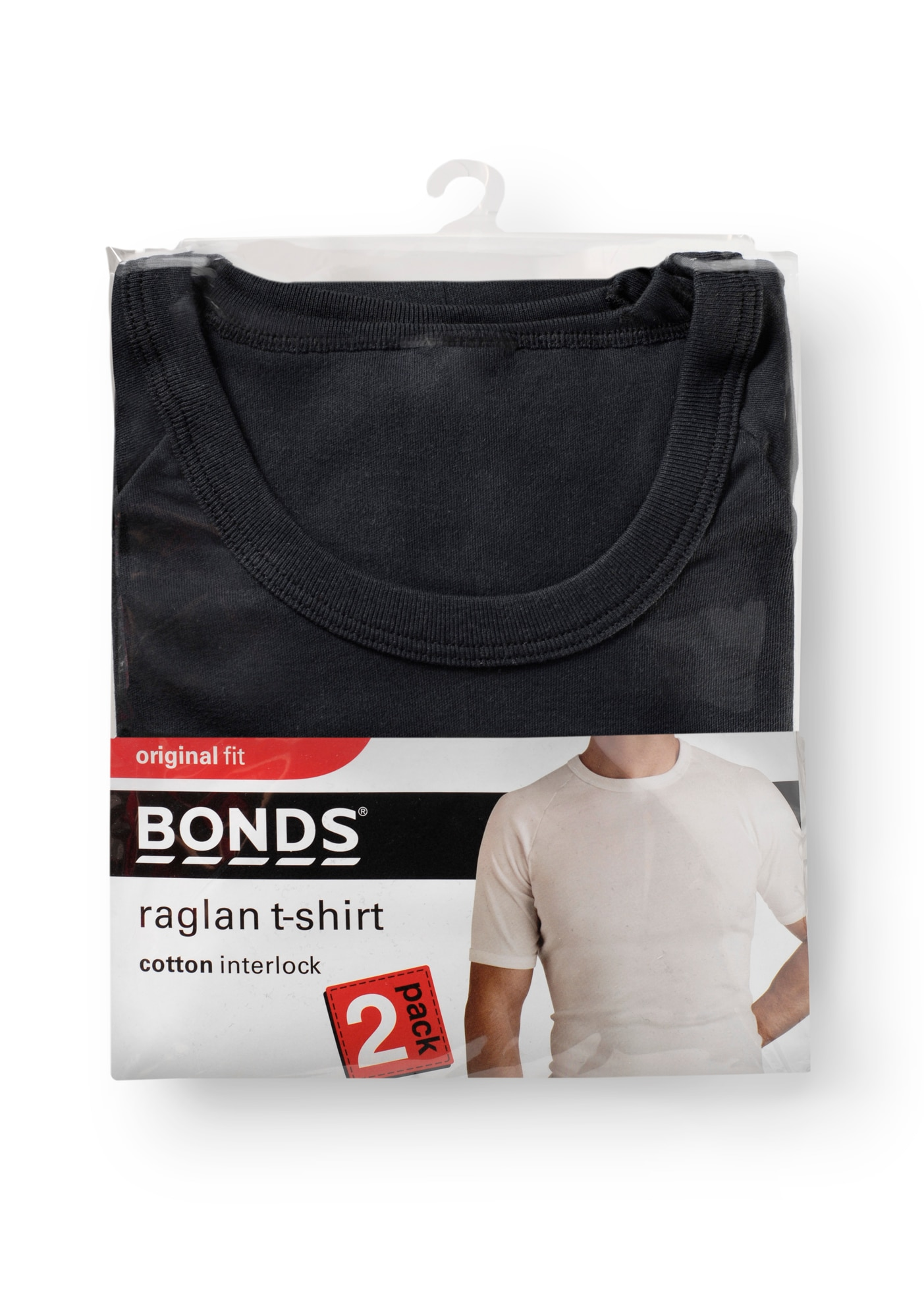 Bonds Original Raglan Tee 2pk - Black / 14