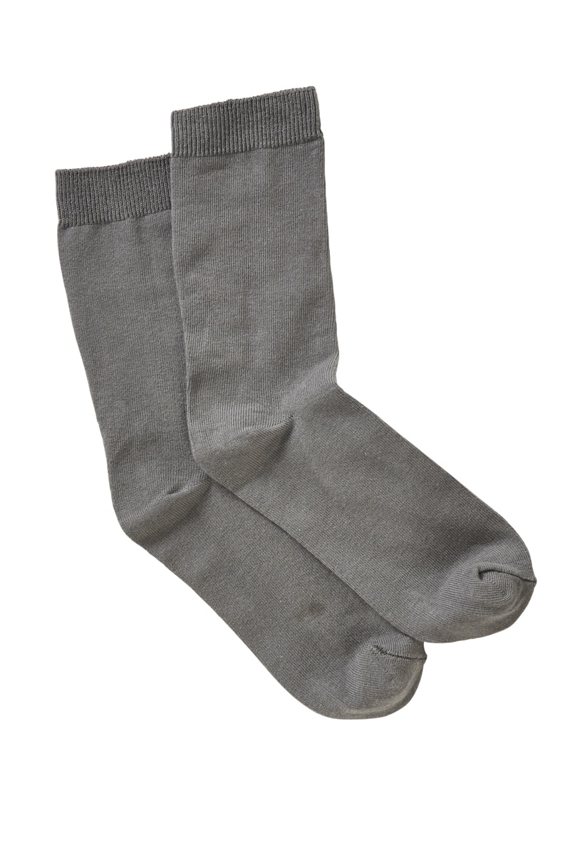 Red Robin Kids Trafalgar Socks 9 Pk - Grey / 3-8 (10+ Years)