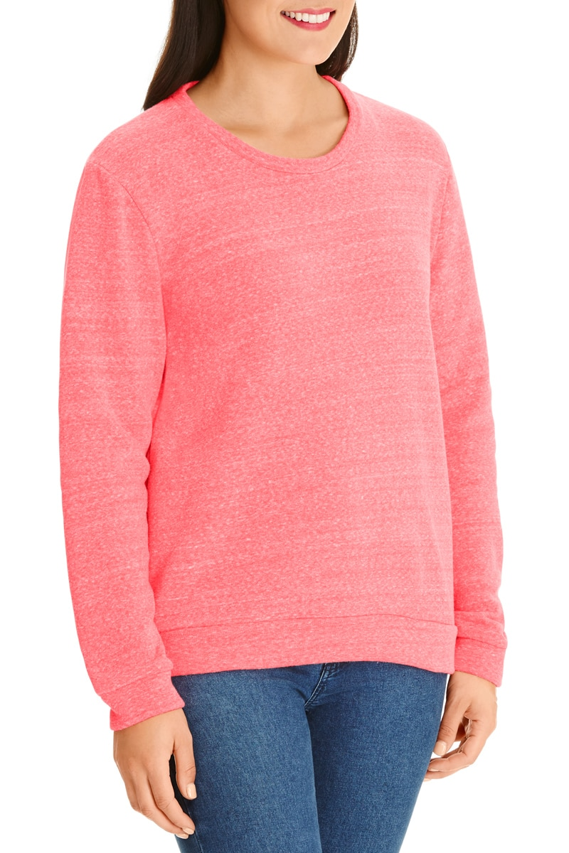 Bonds Tri Blend Pullover - Ruby Grapefruit / XS