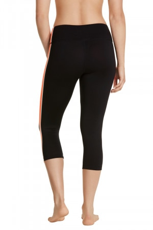 Bonds Bodycool Spliced 3/4 Legging Orange Soda CWYJI MRW