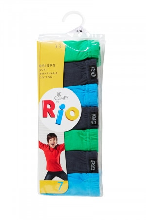 Rio Boys Brief 7Pk Pack 17 UZ4Z7W 17K