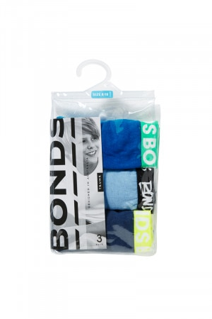 Bonds Boys Fun Pack Trunk 3pk Assorted 28 UY7Q3A T1V
