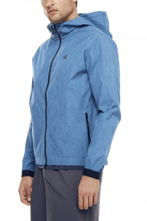 Champion Woven Shell Jacket Seabottom Blue Heather A1880H BTG