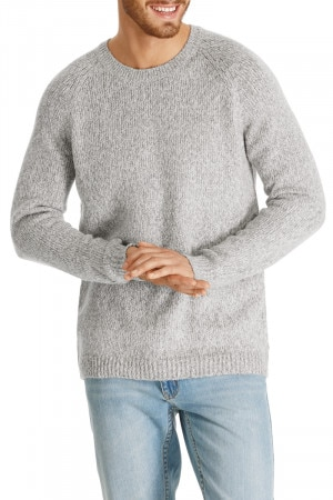Bonds Outlet Cosy Knit Pullover Grey Mottled Marle