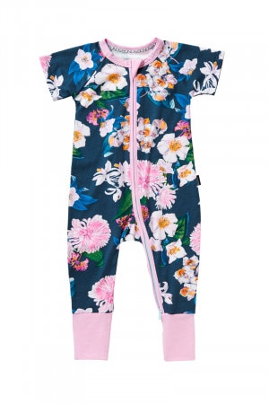 Bonds Outlet Zip Wondersuit Flower Market Emerald Jelly