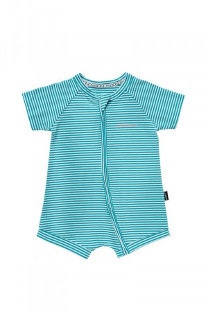Bonds Zip Romper Wondersuit Green Stripe BYFQA 46M