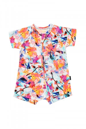 Bonds Zip Romper Wondersuit Coastal Floral BYR9A 34C