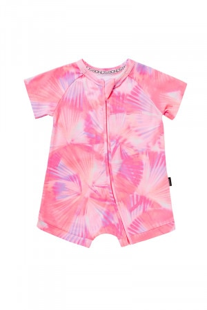 Bonds Zip Romper Wondersuit Cool Palms Pink BYR9A 8AA