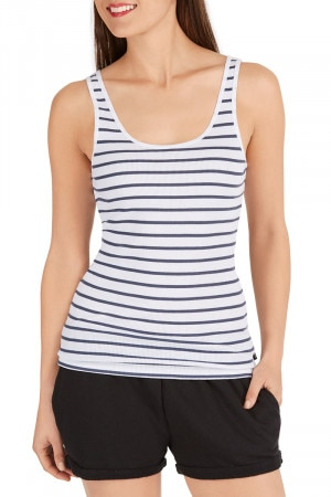 Bonds Outlet Rib Tank Deep Caribbean Stripe