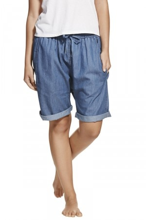 Bonds True Blue Chambray Short Mid Chambray Blue CXR6I MNH