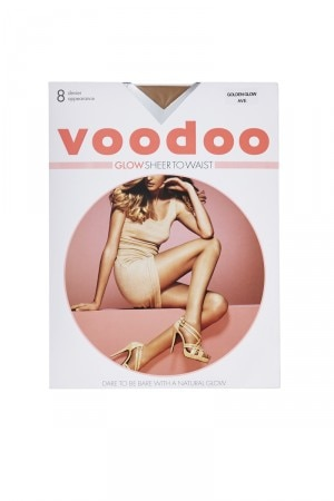 Voodoo Glow Sheer to Waist Tights 8 Denier 5 Pk Golden Glow H30550 Z5F