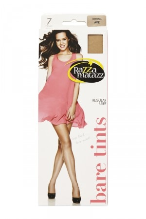 Razzamatazz Bare Tints Pantyhose 7 Denier 5 Pk Natural H75842 NAT