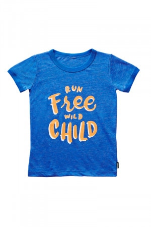 Bonds Kids Ringer Print Tee Run Free Wild Child KXV8K ZA7