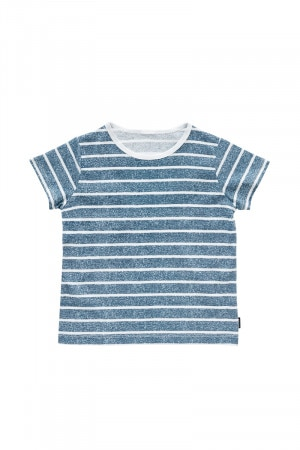 Bonds Kids Short Sleeve Tee Block Denim Stripe KY4EA ZBM