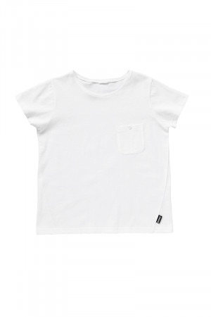 Bonds Kids Short Sleeve Pocket Tee White KYJ3A WHI