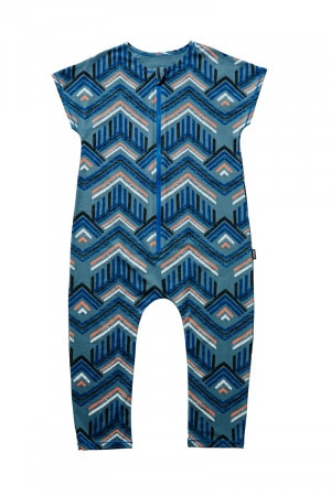 Bonds Outlet Kids Sleep Short Sleeve Onesie Surf Tribe