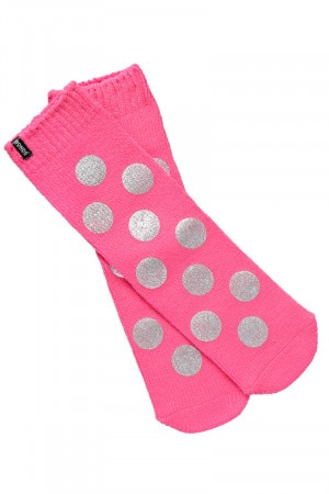 Bonds Womens Metallic Home Sock 1pk Pink Tropic LYRA1N GRF