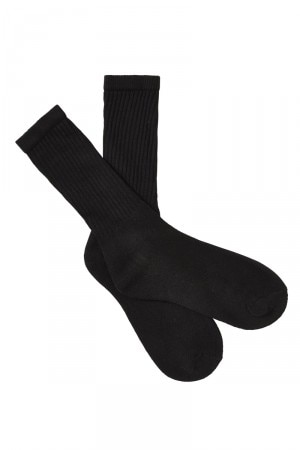 Rio Kids Crew Socks with Extra Cushioning 15 Pack Black RK3305 BLK