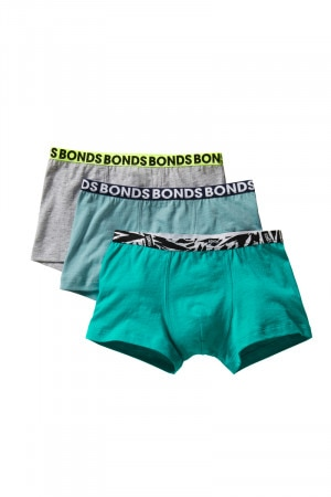 Bonds Boys Fun Pack Trunk 3pk Pack A32 UY7Q3A A32