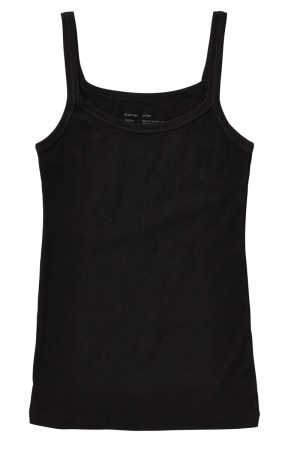 Jockey Rib Cotton Cami 2 Pk Black WYZN BLK