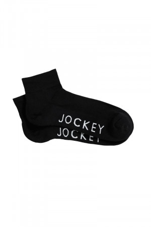 Jockey Active Quarter Crew 2pk Black SYUF2N BLK