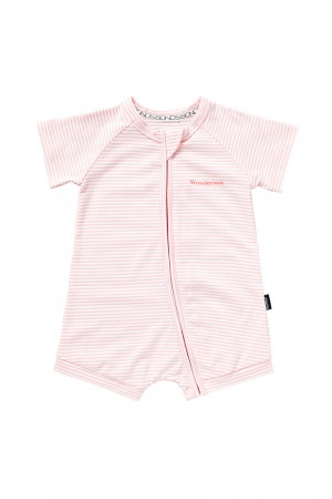 Bonds Outlet Zip Romper Wondersuit Reef Pink & White