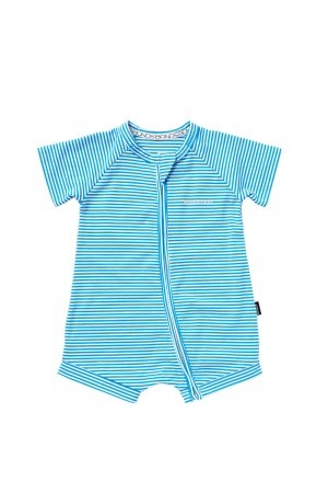 Bonds Outlet Zip Romper Wondersuit Blue Marine