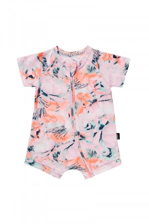 Bonds Outlet Zip Romper Wondersuit Seasalt Floral