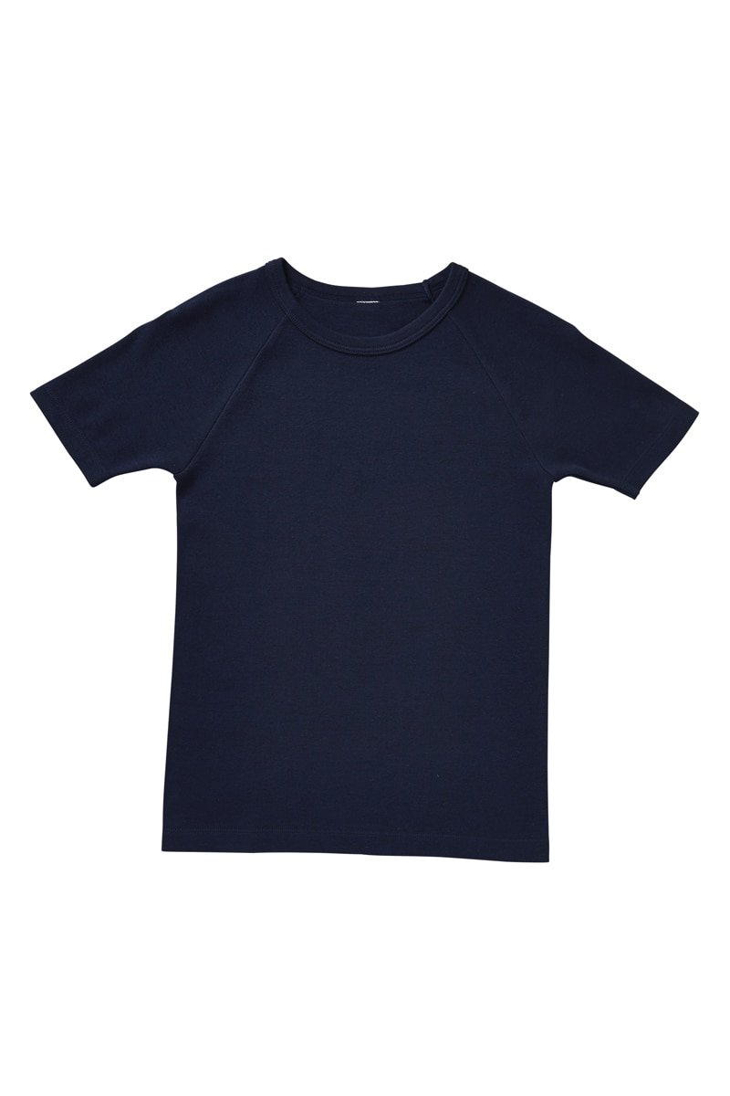 Bonds Boys Short Sleeve Raglan - Commander Blue / 3/4